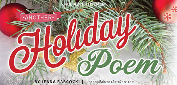 Another Holiday Poem by Jeana Babcock 2018
